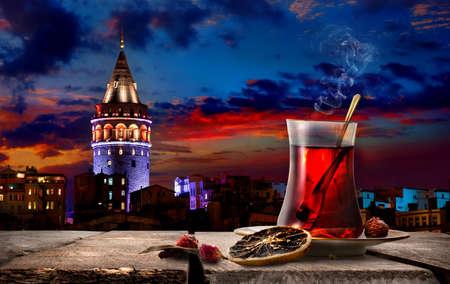 Foto de Tea and Tower - Imagen libre de derechos