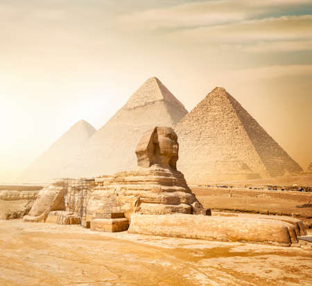 Photo for Sphinx and pyramids - Royalty Free Image