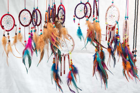 dream catchers on white background