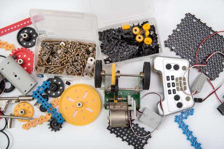 Photo for STEM or DIY science Kit set white background. - Royalty Free Image