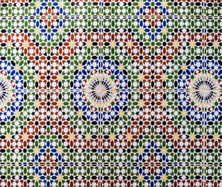 Photo for Tiles simulating tradional wall decoration in Morocco - Royalty Free Image