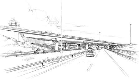 Foto de skew bridge on the freeway. - Imagen libre de derechos