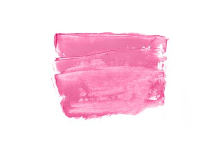 Photo pour Bright pink and paint in the form of a group of horizontal strokes isolated on a white background. - image libre de droit