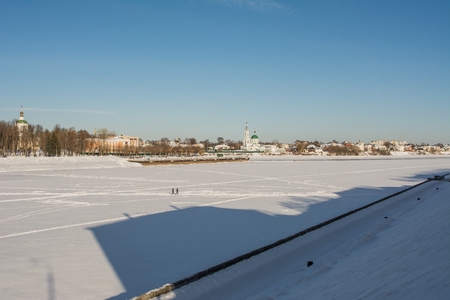Panorama of the Volga River in the city of Tver