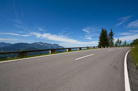Panoramastrasse-asphalt road in the Bavarian Alps