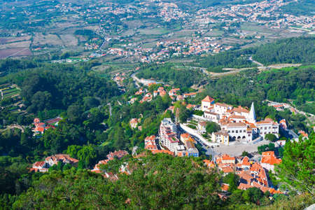 View to Historic Center City of Sintra, Portugal
