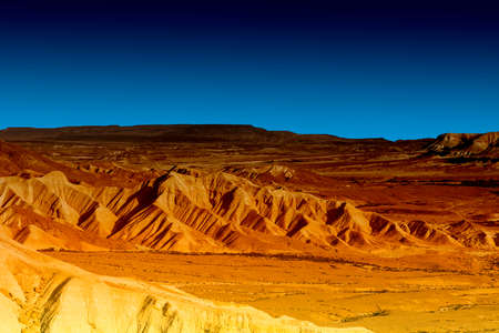Photo pour Rocky hills of the Negev Desert in Israel early in the morning. - image libre de droit