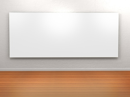 Empty frame in a room against a white wall