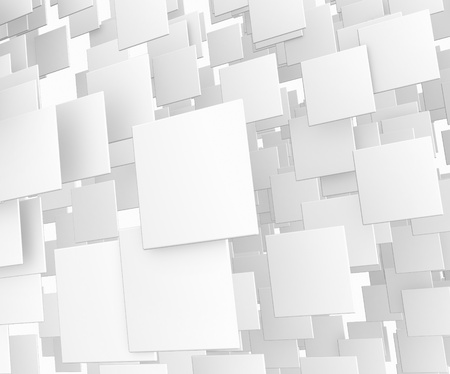 3d abstract white cube background