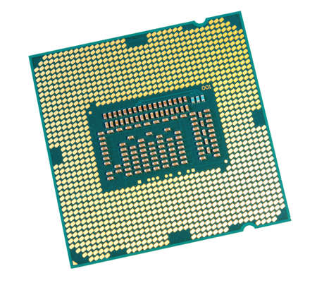Computer processor - isolated on a white background