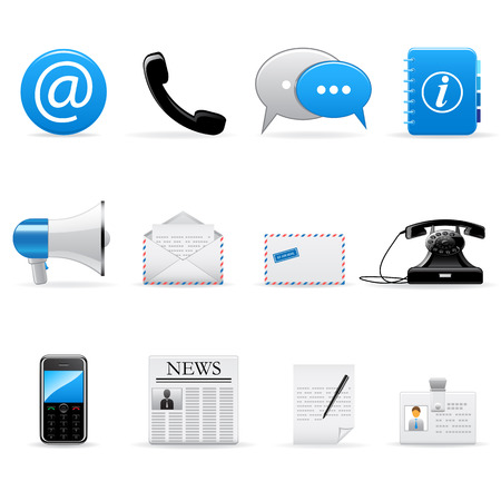 Photo for Vector web and communication icons set - Royalty Free Image