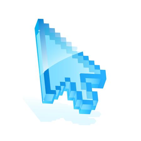 Illustration of a blue arrow cursor