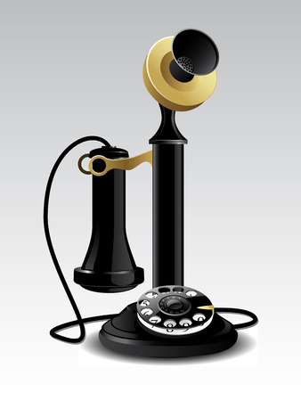 Illustration for Vector vintage telephone - Royalty Free Image