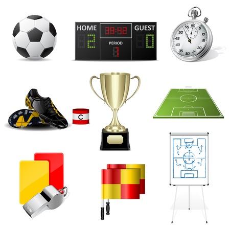 Ilustración de soccer icons - Imagen libre de derechos