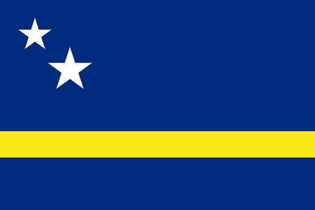 Flag of Curacao official colors and proportions, vector image