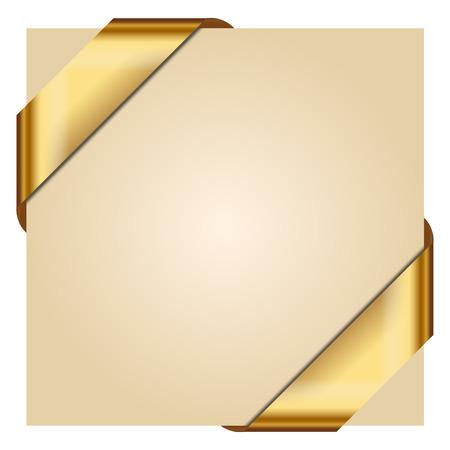 Illustration pour Vector illustration of Golden Corner Ribbon - image libre de droit