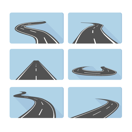 Set of roads for vehicles movement .Vector illustration