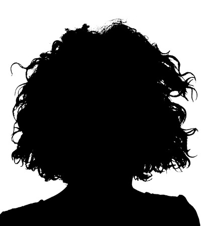 Photo pour Unknown female person silhouette - image libre de droit
