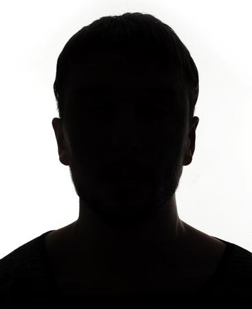 Photo pour Unknown male person silhouette - image libre de droit