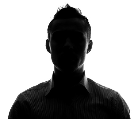 Photo for Unknown male person silhouette - Royalty Free Image