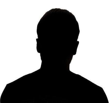 Photo pour Hidden face in the shadow.male person silhouette - image libre de droit