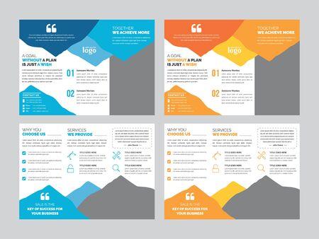 Illustration pour Corporate Tri-fold Brochure Template - image libre de droit