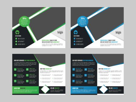 Illustration pour Bifold Brochure Design Template for any type of corporate use - image libre de droit