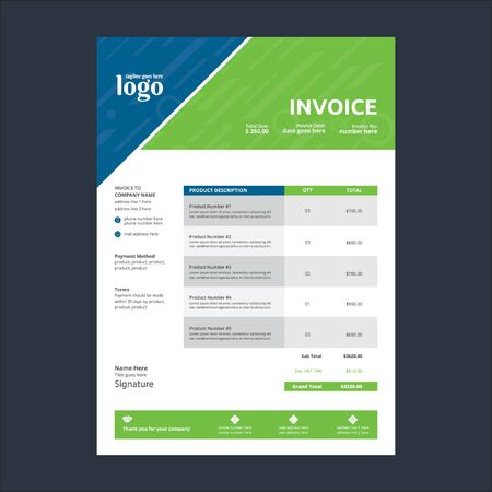 Illustration pour Invoice Template for any type of corporate use - image libre de droit