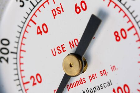 a macro image of a gauge