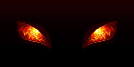 Illustration pour Glowing eyes vector illustartion - image libre de droit
