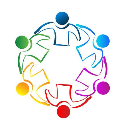 Illustration pour Teamwork meeting people identity card concept icon vector - image libre de droit