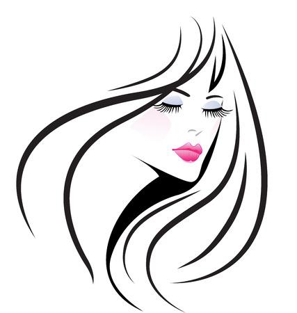 Face beauty girl woman vector
