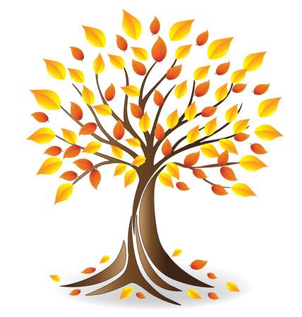 Ecology fall tree  vector