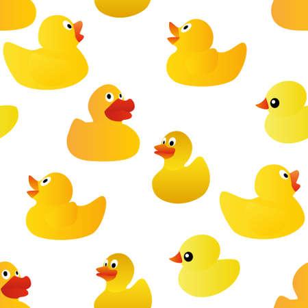 ducks seamless pattern