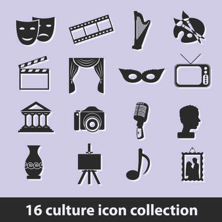 16 culture icon collection
