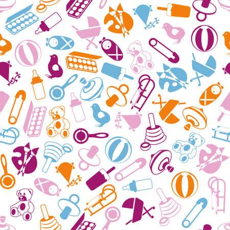 Illustration pour seamless baby pattern - image libre de droit