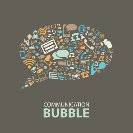 Photo for communication bubble - Royalty Free Image