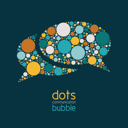 Photo for dots communication bubble - Royalty Free Image