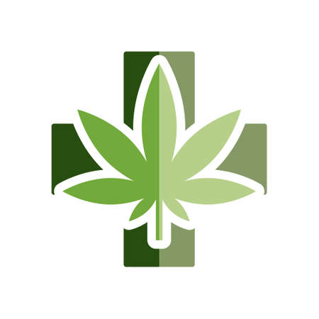 Vektor für medical marijuana flat icon - Lizenzfreies Bild