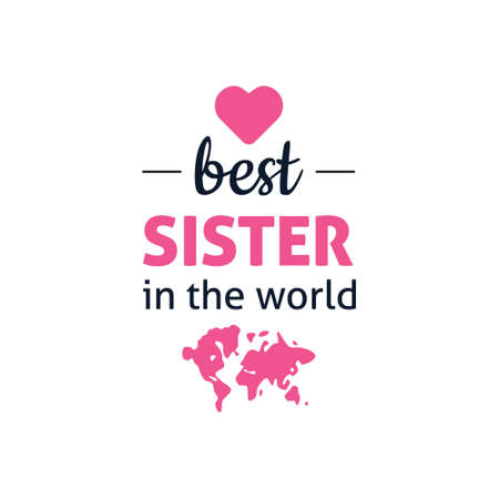 Illustration for best brother in the world - Royalty Free Image
