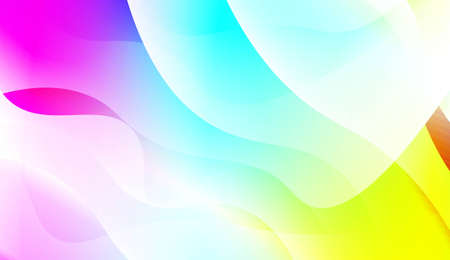 Illustration pour Abstract Wavy Background. For Business Presentation Wallpaper, Flyer, Cover. Vector Illustration with Color Gradient - image libre de droit