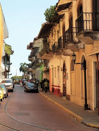 Casco Viejo (Spanish for Old Quarter) is the historic district of Panama City. Completed and settled in 1673, it was built following the destruction of the original Panama city in 1671.