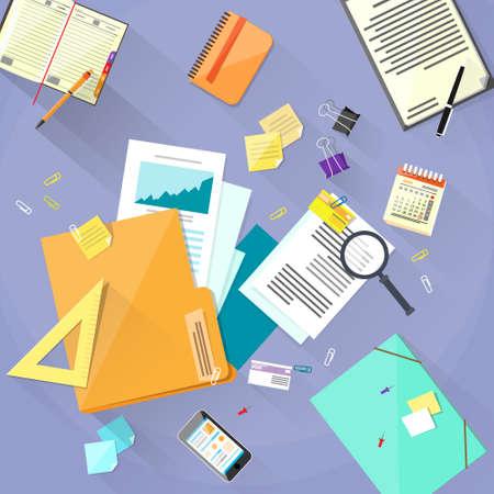 Workplace Desk Documents Papers Folder Office Stuff
