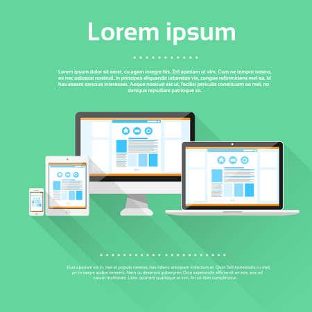 Responsive Design Laptop Phone Tablet Desktop Device Screen Size