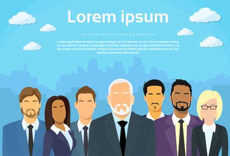 Ilustración de Senior Businessmen  - Imagen libre de derechos