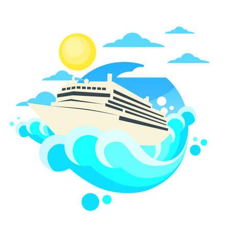 Cruise Ship Liner Summer Ocean