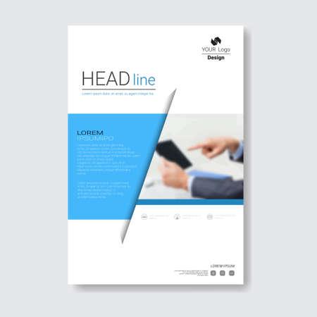 Ilustración de Template Design Brochure, Annual Report, Magazine, Poster, Corporate Presentation, Portfolio, Flyer With Copy Space Vector Illustration - Imagen libre de derechos