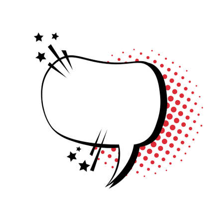 Illustration pour Chat Bubble Icon Pop Art Style Social Media Communication Flat Vector Illustration - image libre de droit