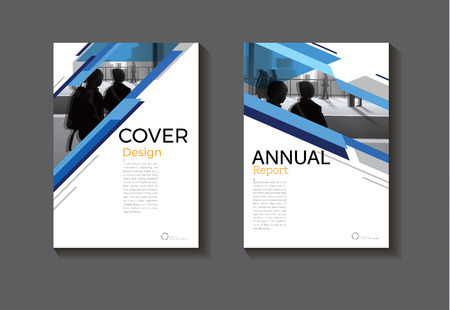 Illustration pour Blue abstract cover design modern book cover abstract Brochure cover  template,annual report, magazine and flyer layout. - image libre de droit