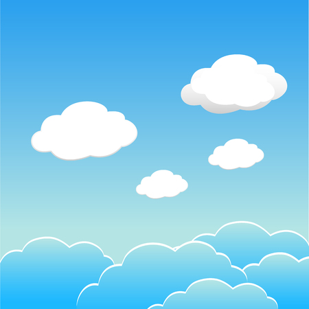 Illustration for Blue sky with clouds of the day. Vector EPS 10. - Royalty Free Image